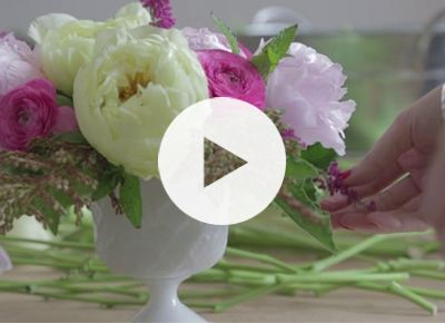 how to properly arrange flowers!
