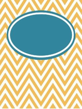 FREE Editable Chevron Binder Covers--lots of colors for organizing