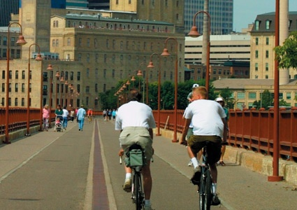 Great biking trails along the rivers in the Twin Cities!