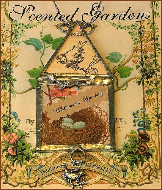 Soldered bird house