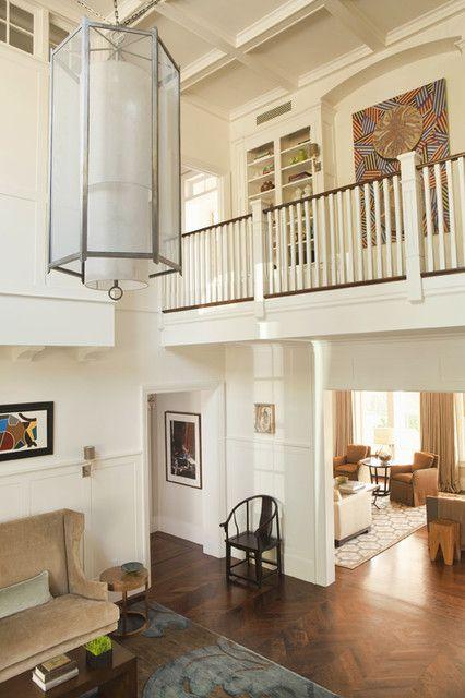 Entryway lighting + banister   - by Tim Barber LTD Architecture & Interior Design