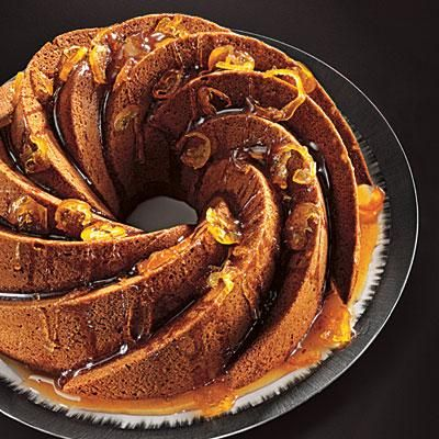 Fresh Ginger Cake with Candied Citrus Glaze Recipe