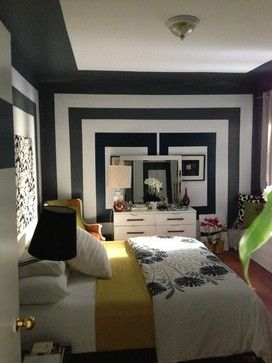Graphic Paint Design Bedroom