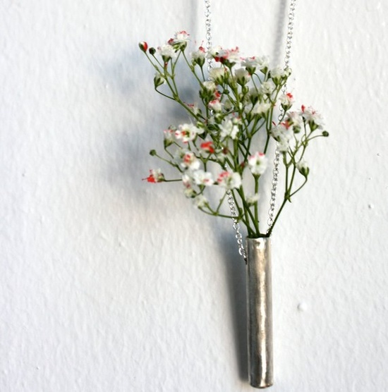 A necklace + vase. I'd love to go on a nature walk with this on.