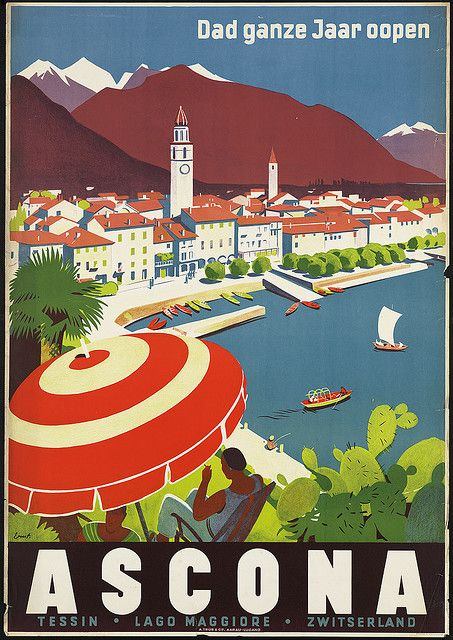 """The Boston Public Library's Print Department is home to more than 350 vintage travel posters, most dating from the 1920s to the 1940s, the """"Golden Age of Travel."""" Railways opened up America and Europe, luxe ocean liners introduced elegance into overseas voyages, and drivers took to the road in record numbers in their new automobiles. Travel agents during this period were festooned with vivid, eye-catching posters, all designed to capture the beauty, excitement, and adventure of travel."""