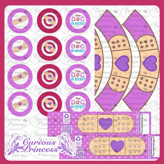 Doc Mcstuffins inspired birthday party printables