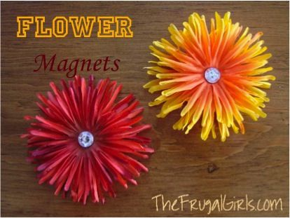 How to Make Pretty Flower Magnets…