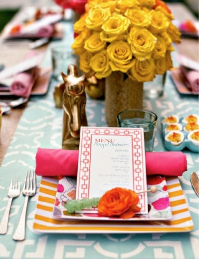 Colorfull and vivid place setting!