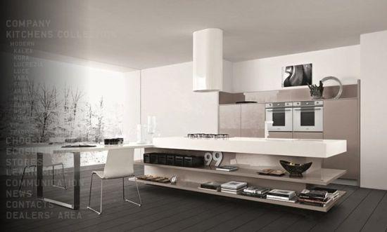 Kitchen, Taupe White Modern Kitchen Designs: Modern Kitchen Designs From Cesar