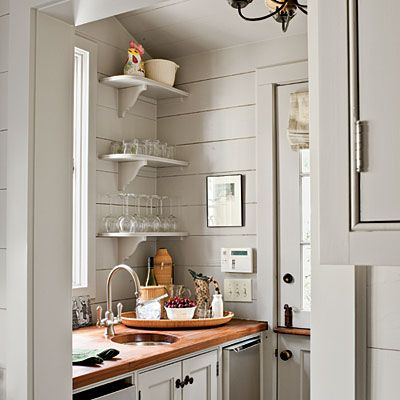 Butler's Pantry at Wendy & Cleve's Atlanta Cape Code-style Cottage - Southern Living - Laurey W. Glenn//photography// Brad Heppner//architect//