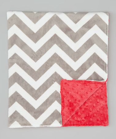 Take a look at this Silver Zigzag & Watermelon Stroller Blanket by Lolly Gags on #zulily today!