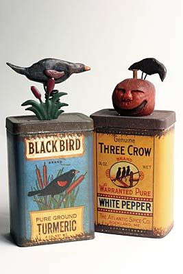 I have a shelf to house these neat vintage tins..love!