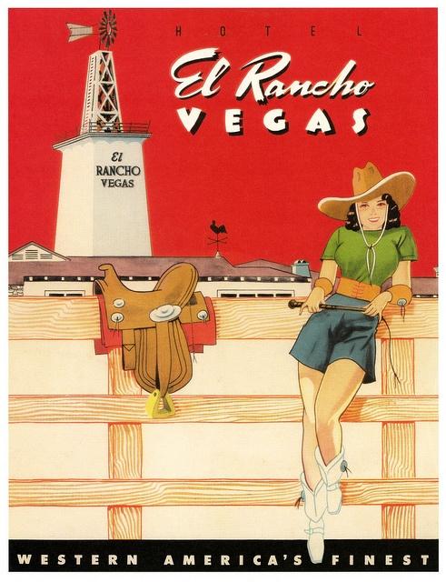 El Rancho Motel in Vegas. 1940s