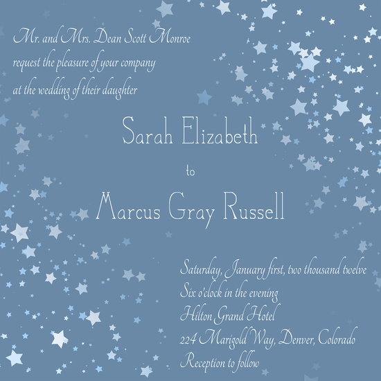 Customized Wedding Invitation - Stars (7x7, or 5x7). $16.00, via Etsy.