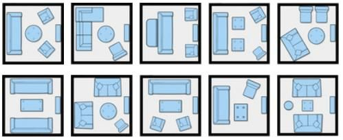 10 Ways to arrange furniture in small space