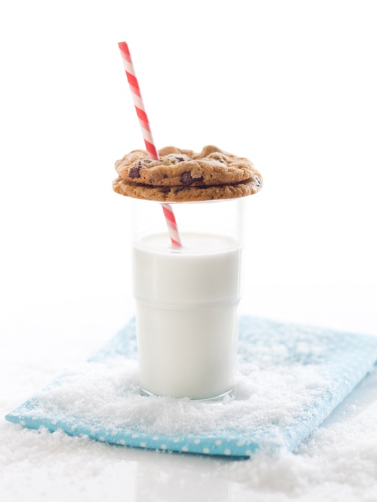 cookies and milk...yum!
