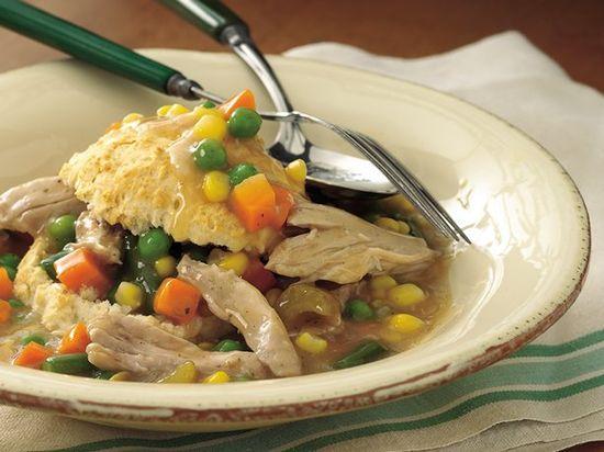 Slow Cooker Upside-Down Chicken Pot   Pie