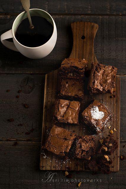 coffee and chocolate fudge brownies