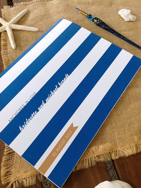 """""""Anchored in Love"""" Nautical Themed Wedding Guest Book by Earmark, $ 25.00 NEW!"""