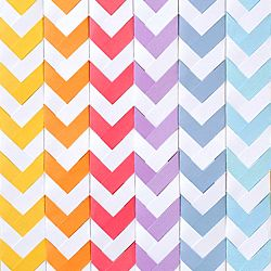Learn to make a chevron pattern using paper braiding. #craftgawker