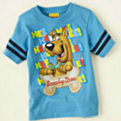 Toddler Boy/Girl Graphic Blue Tee w/Scooby-Doo Cartoon Character - Sz 6-9mo - 4T  - Re-list August 10, 2013