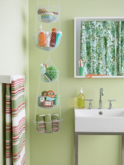 hanging storage for small bathrooms