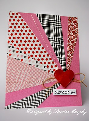Quilted diagonal card.