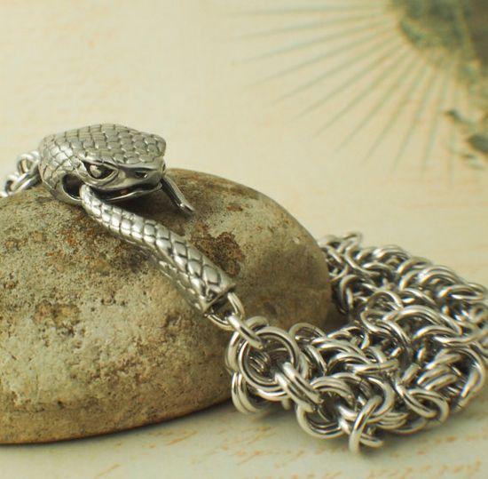 Grand Snake Bracelet III Kit in Aluminum by UnkamenSupplies on Etsy, $35.00