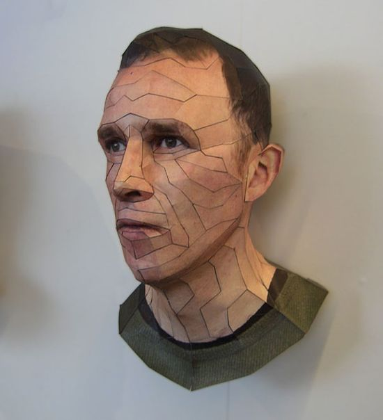 AWESOME PAPER 3D PORTRAITS BY BERT SIMONS