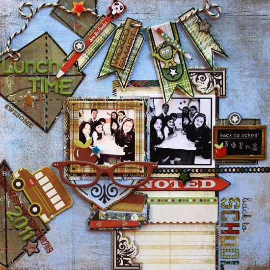 Lunch Time - Scrapbook.com - #scrapbooking #layouts #basicgrey