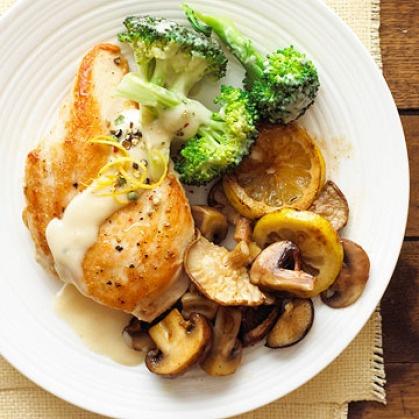 Chicken and Lemon-Broccoli Alfredo