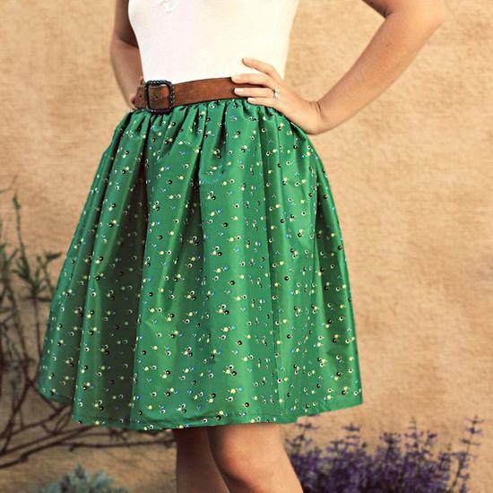 full green skirt
