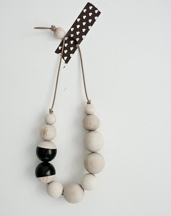 DIY necklace wooden beads