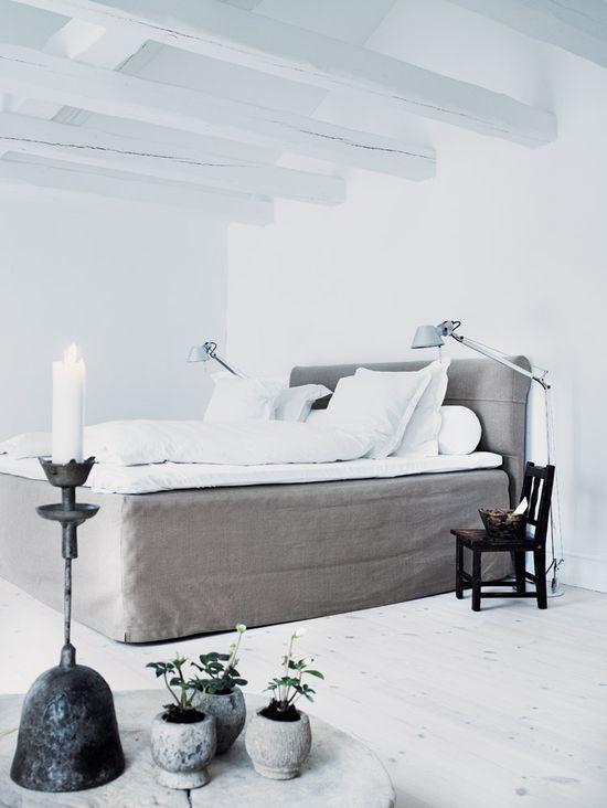 Inviting Bedroom In Grey