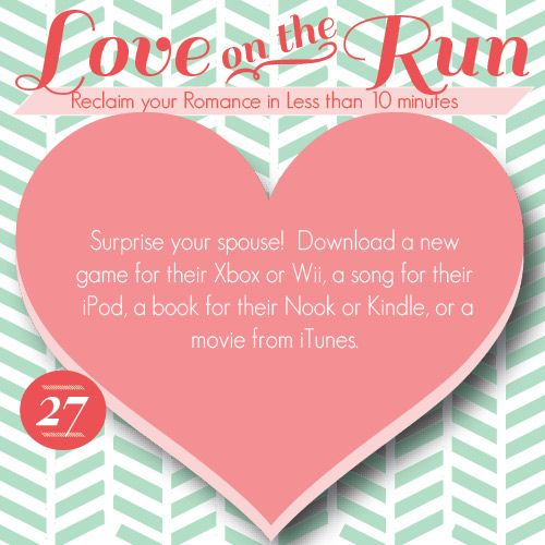 Such a fun idea!  In 5-10 minutes you could have a fun surprise for your spouse, and you dont even have to leave your house.  Operation bringin the romance back!!  www.TheDatingDiva... #loveontherun #romancetip #marriage ultimatedatingsys...