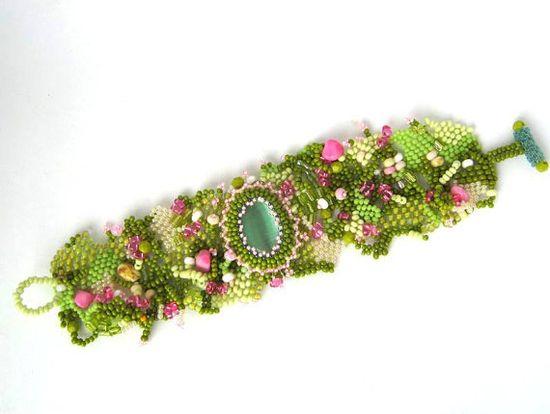 Bead jewelry Beadwork bracelet Seed bead jewelry