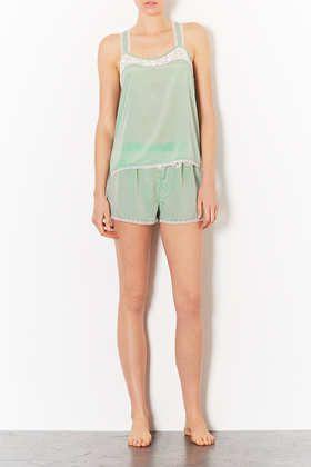 Vintage Style Pyjama Shorts