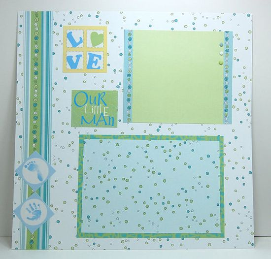 Page Layout  baby scrapbook layout