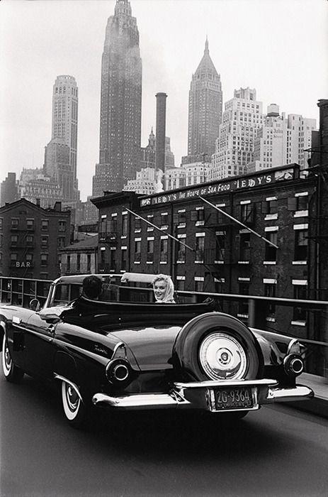 Arthur Miller and Marilyn Monroe in New York.