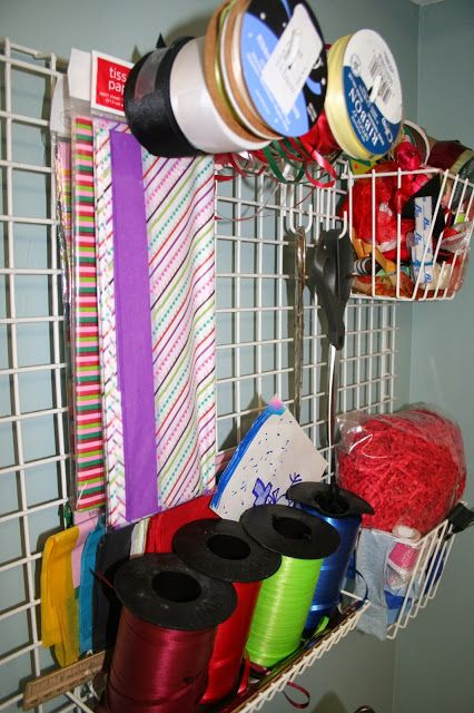 Home Gift Wrap Station