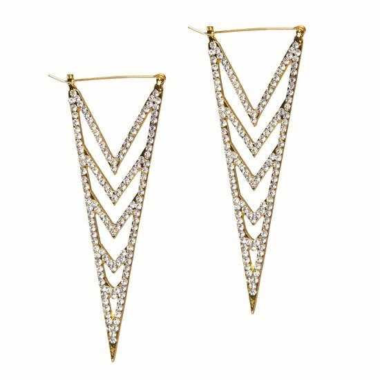 Triangle Rhinestone Earrings