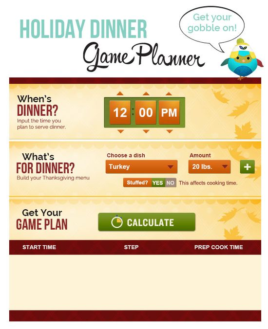 When to Start Prepping and Cooking Thanksgiving Dinner Planning, prepping and cooking thanksgiving dinner can definitely be overwhelming. Use our Holiday Dinner Game Planner tool to get it right and get dinner ready just in time! www.ivillage.com/...