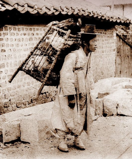 OLD KOREA - LAND OF THE MORNING CALM --  The Chicken Seller, SEOUL