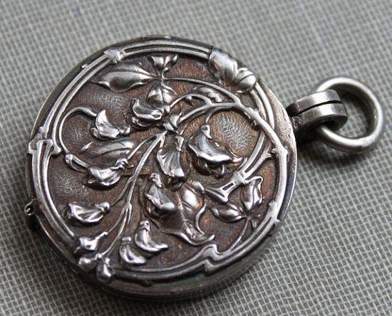 19th century sterling locket