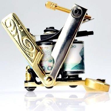 Free Shipping Steel Handmade Tattoo Machine Gun Shader and Liner