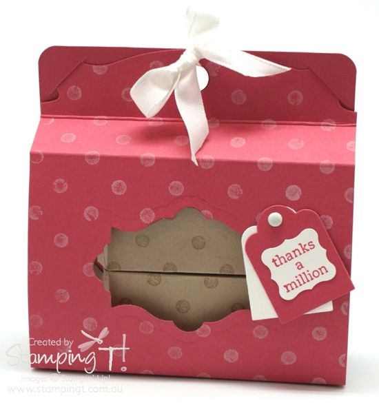 Stampin Up! Stamping T! - Pop n Cuts Candy Wrapper Box