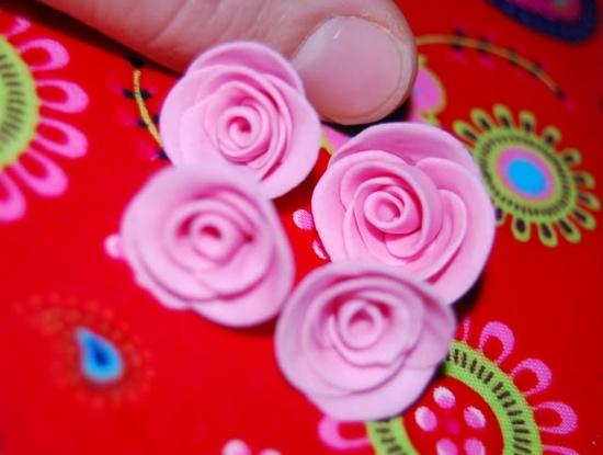 Tiny handmade roses