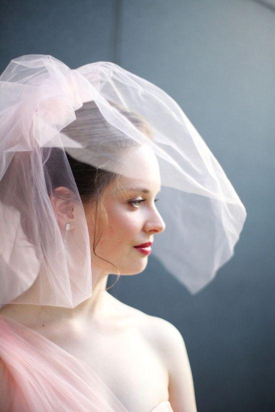 A blush veil....