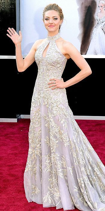 Best Dressed At The 2013 Oscar Awards. Actress Amanda Seyfried in Alexander McQueen.