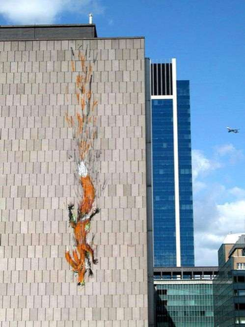 Street Artist Bonom Makes Building Length Graffiti #graffiti trendhunter.com